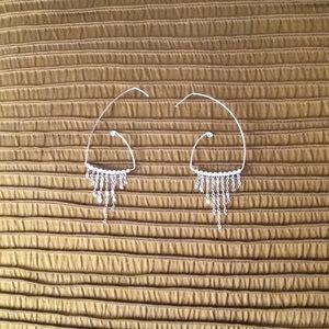 Silver 2 Ways Worn Earrings